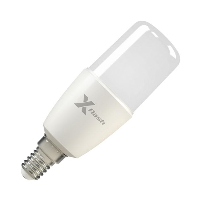 Светодиодная LED лампа X-flash Corn E14 10W 220V желтый свет, диммируемая