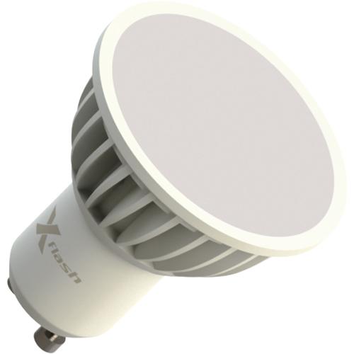 Светодиодная LED лампа X-flash MR16 GU10 4W, 220V 43057 желтый свет, матовая