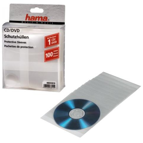 Конверт Hama H-33810 для CD 100шт. прозрачные