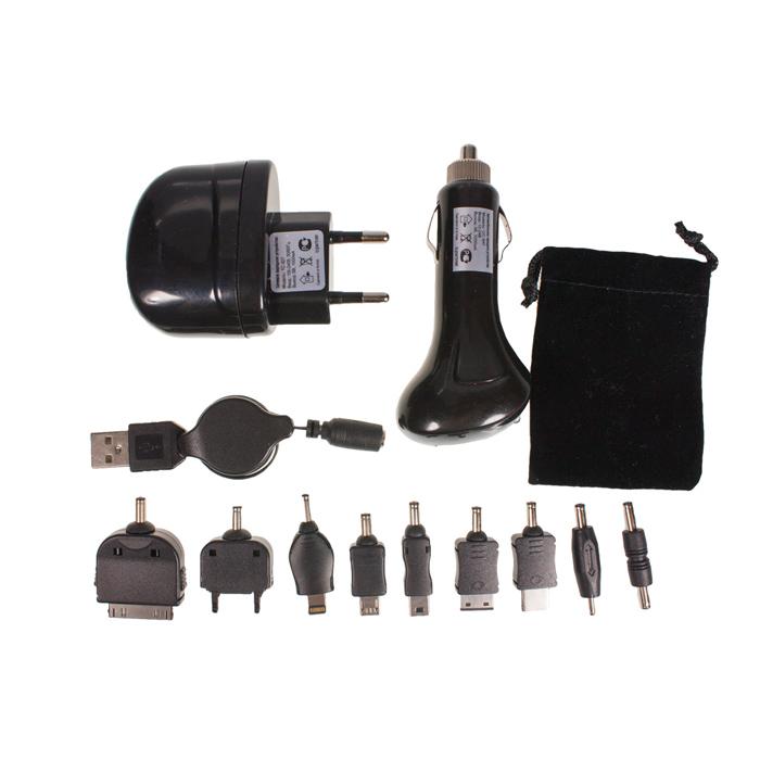 Комплект СЗУ + АЗУ Partner 1A кабель-рулетка, набор коннекторов