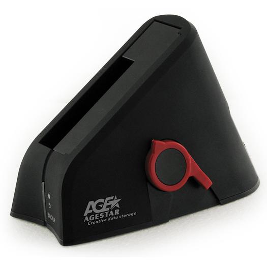 """Док-станция для жестких дисков 2.5"""" SATA-USB3.0 AgeStar 3UBT Black"""