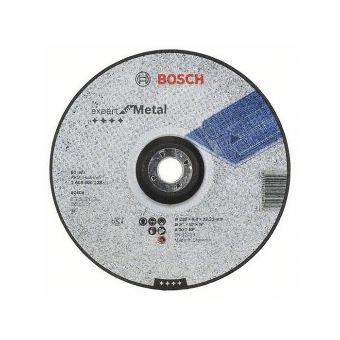 Обдирочный круг по металлу Bosch Expert 230х6мм вогнутый 2608600228