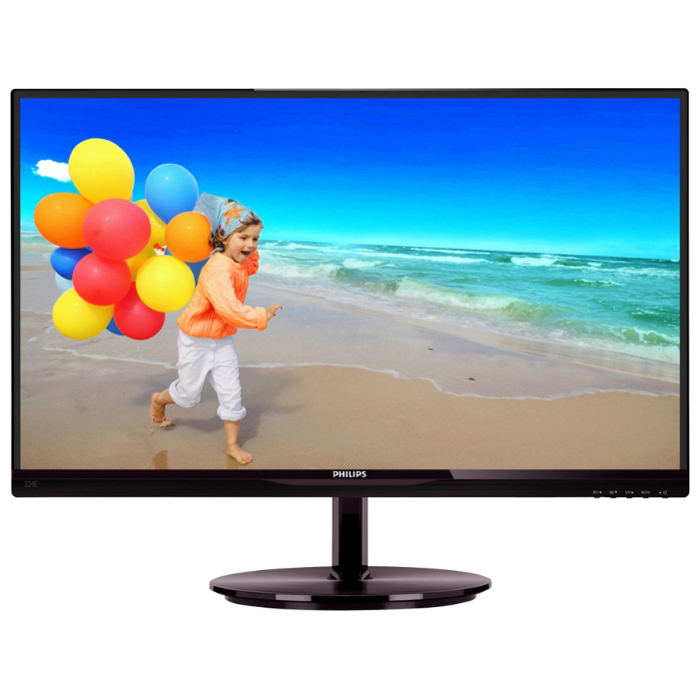 Монитор ЖК Philips 224E5QHSB 22″ AH-IPS black VGA HDMI