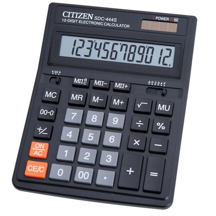 Калькулятор Citizen SDC-444S 12 разрядов