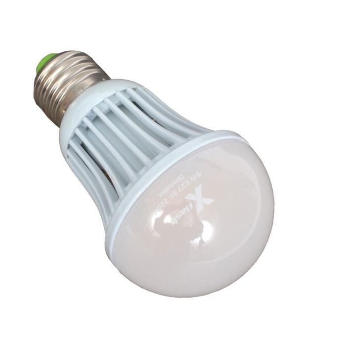 Светодиодная LED лампа X-flash Bulb E27 9W 220V белый свет, диммируемая