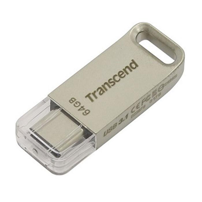 Флеш-диск 64Гб Transcend Jetflash 850S ( TS64GJF850S ) USB Type C Золотистый