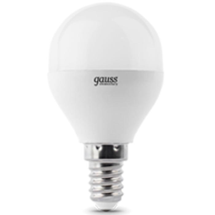 Светодиодная лампа Gauss Elementary Globe E14 6W 220V белый свет