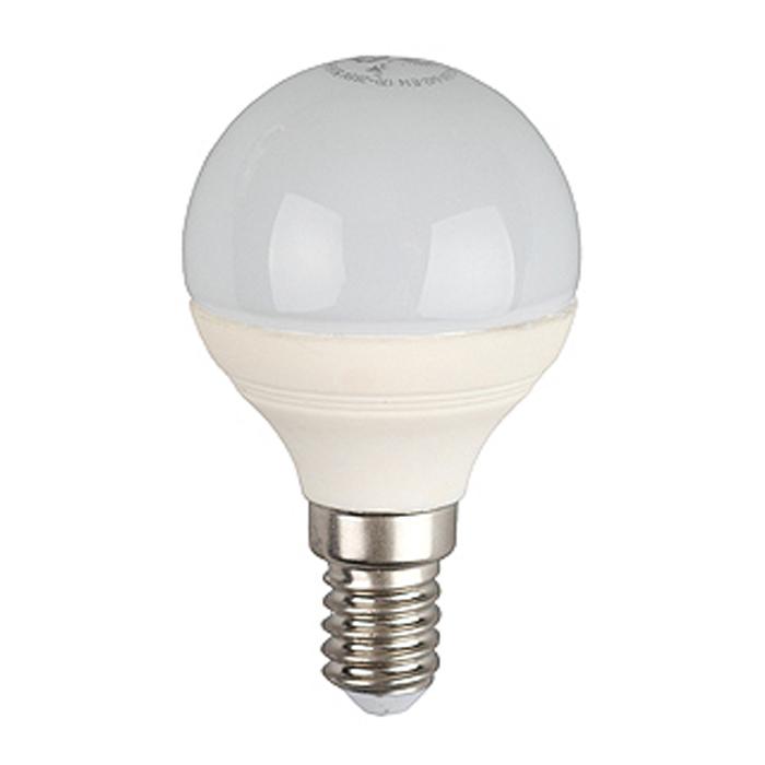 Светодиодная лампа ЭРА P45 E14 5W 220V желтый свет