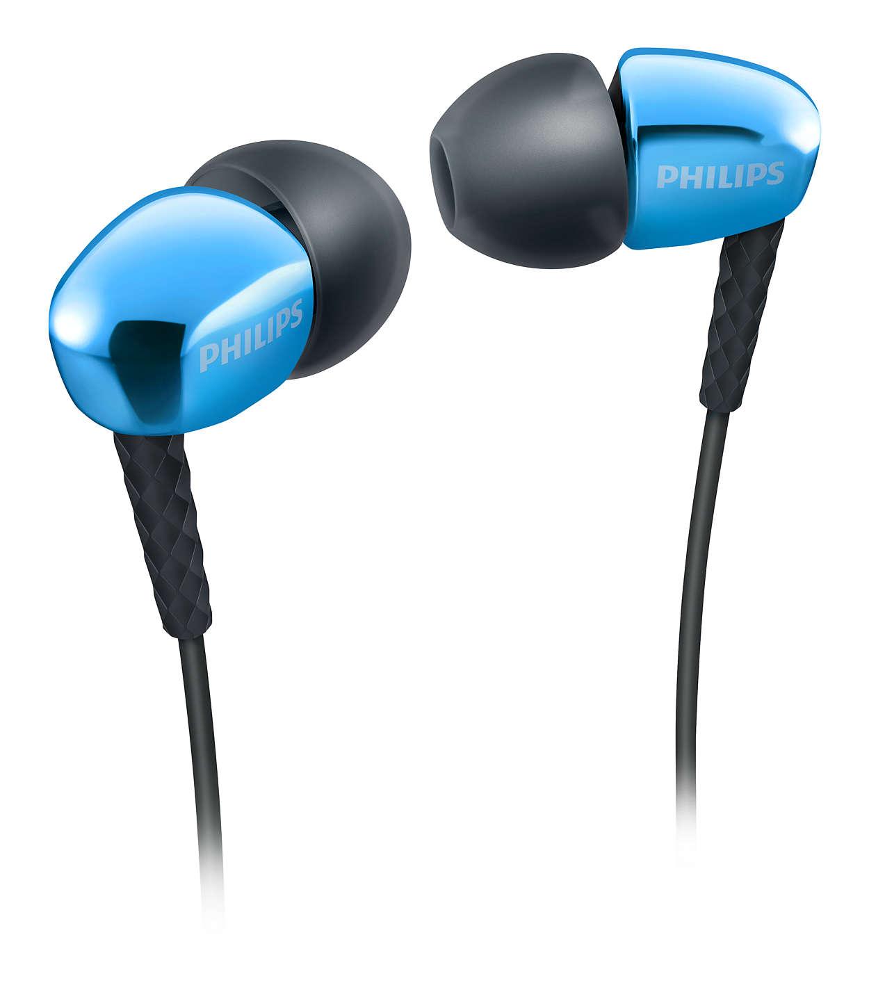 Наушники Philips SHE3900BL синие
