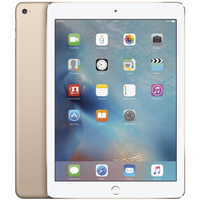 "Планшетный компьютер 9.7"" Apple iPad Air 2, 32Гб Flash, Wi-Fi, Gold (MNV72RU/A)"