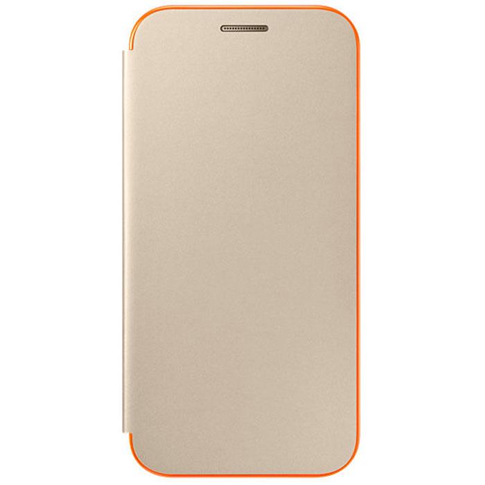 Чехол Samsung Neon Flip Cover для Galaxy A3 (2017) SM-A320F, золотистый