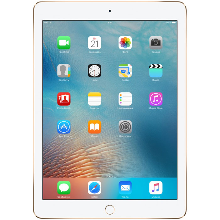 Планшетный компьютер 9.7″ Apple iPad Pro 128Gb Wi-Fi + Cellular Gold (MLQ52RU/A)
