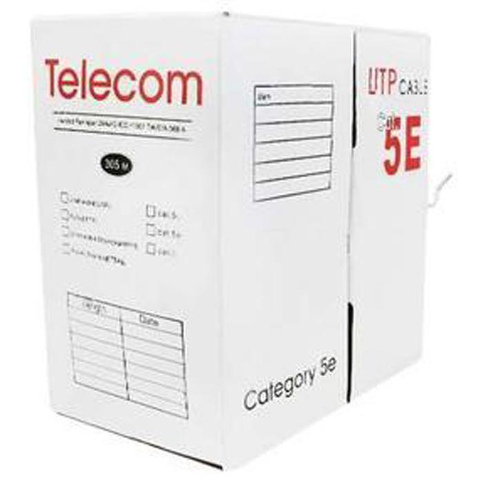 Кабель витая пара Telecom UTP кат. 5e 4 пары 0.50мм одножильный (305м.) медь