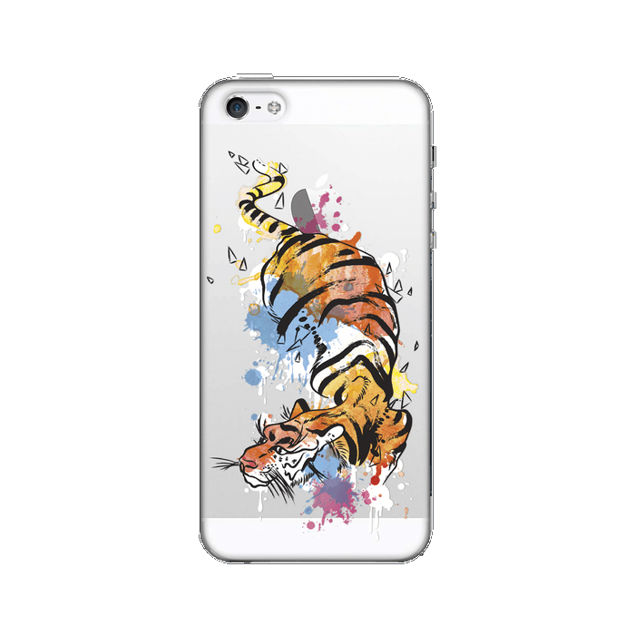 Чехол для iPhone 5 / iPhone 5S / iPhone SE Deppa Art Case, Animal, Тигр