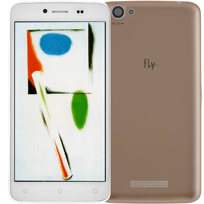 Смартфон Fly FS505 Nimbus 7 White+Gold