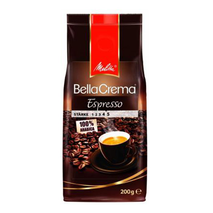 Кофе в зёрнах Melitta BellaCrema Caf? Espresso жареный в зернах 200гр
