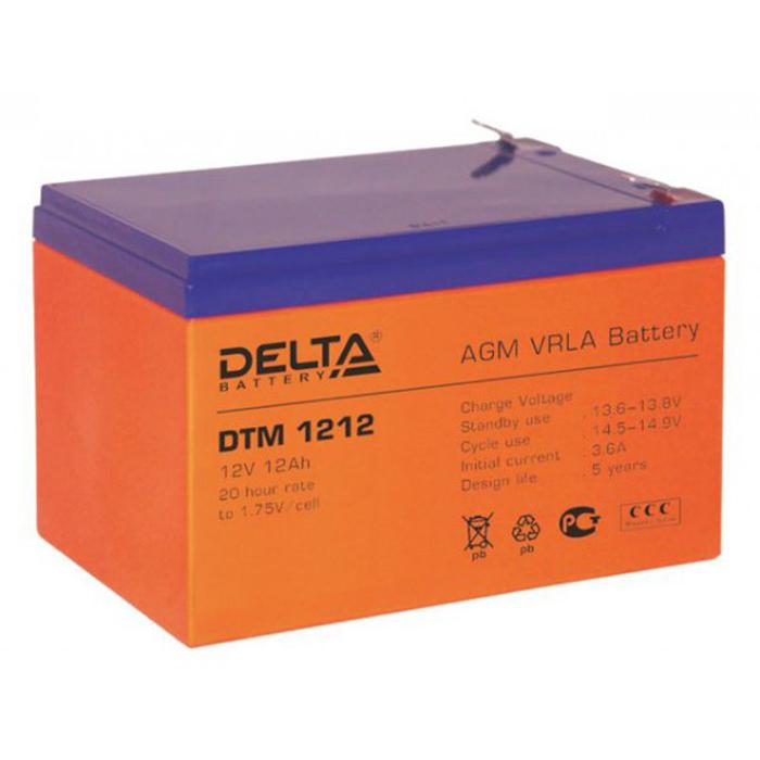 Батарея Delta DTM 1212 (12V 12Ah)