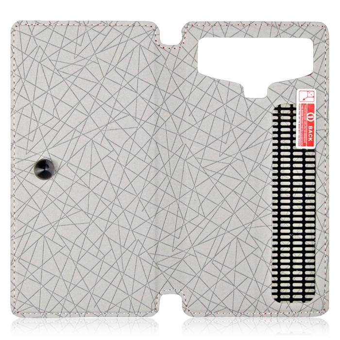 Чехол универсальный для сотовых телефонов 4.2″ Partner Book-case, белый