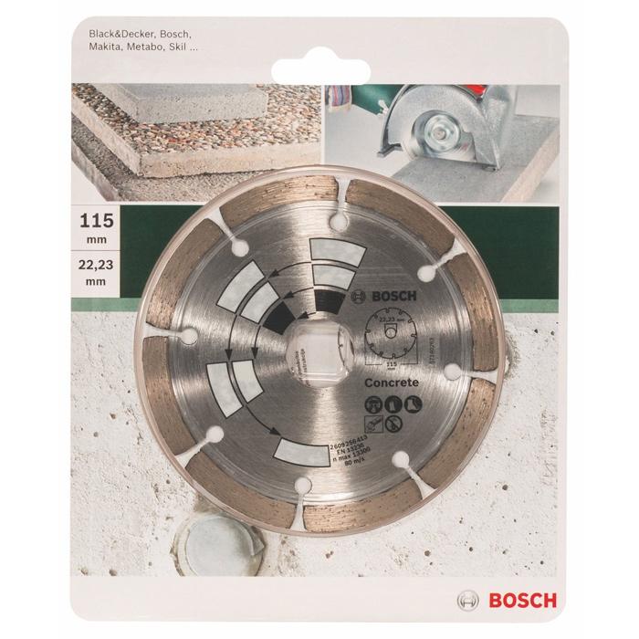 Алмазный диск по бетону Bosch DIY 115мм 2609256413