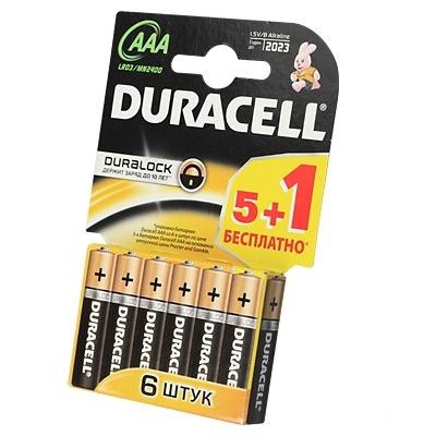 Батарейки Duracell LR03-6BL Basic AAA 6шт.