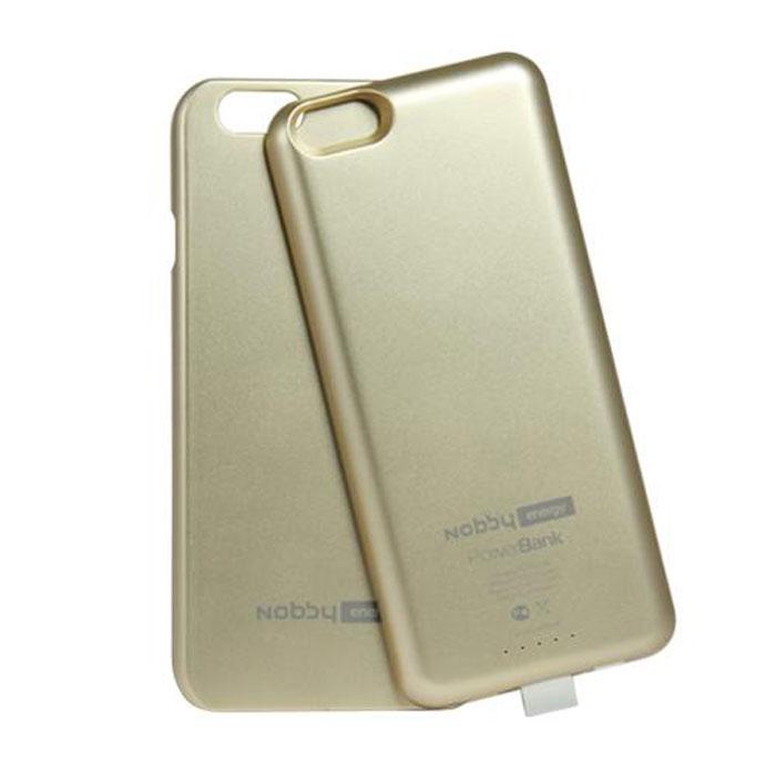 Чехол со встроенной батареей 3200mAh для iPhone 6 / iPhone 6S Nobby Energy CCPB-001 золотистый