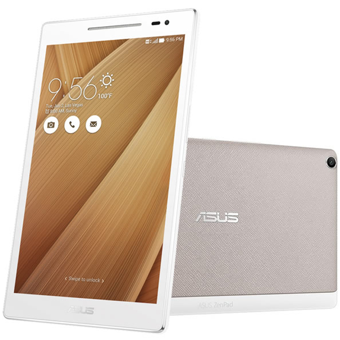 Планшетный компьютер 8″ Asus ZenPad Z380KL White Qualcomm 8916/1Gb/16Gb/8″ IPS (1280×800)/Micro SD/WiFi/3G/LTE/BT/Android 5.0 ( 90NP0242-M00430)