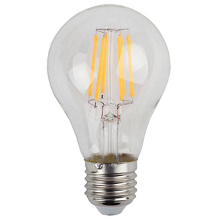 Светодиодная лампа ЭРА F-LED A60 E27 7W 220V желтый свет