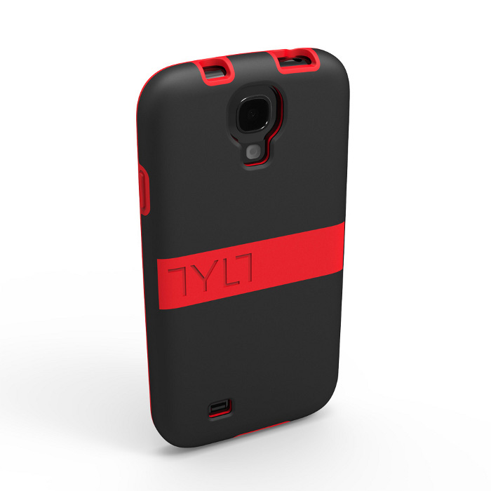 Чехол для Samsung i9500/i9505 Galaxy S IV TYLT Band GS4DPBNDRD-T красный/черный