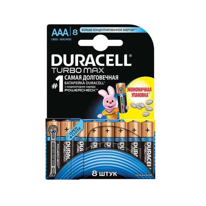 Батарейки Duracell LR03-8BL Turbo MAX AAA 8шт