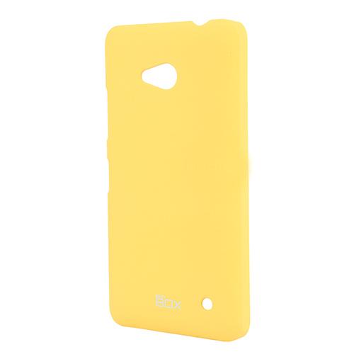 Чехол SkinBox 4People для Nokia Lumia 535, желтый