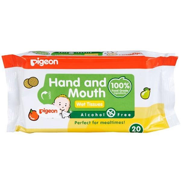 Влажные салфетки для сосок, игрушек и фруктов Pigeon (20 шт/уп)