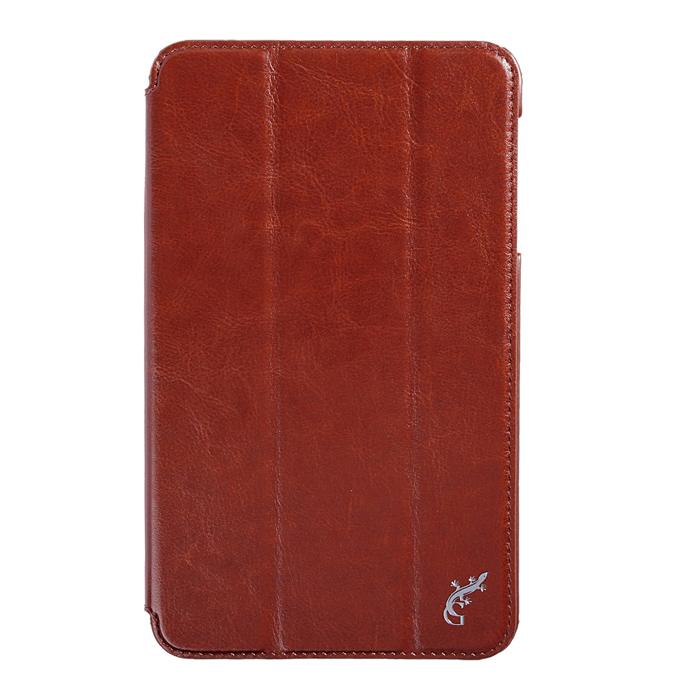 Чехол G-case Slim Premium для Samsung Galaxy Tab 4 8.0 SM-T330\SM-T331, эко кожа, коричневый