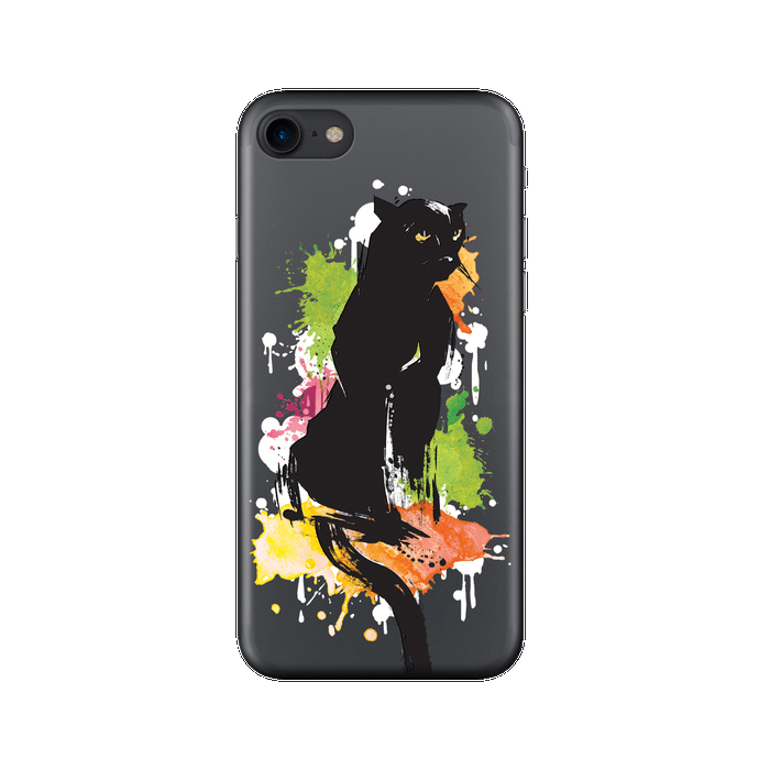 Чехол Deppa Art Case с пленкой для iPhone 7, Animal, Пантера