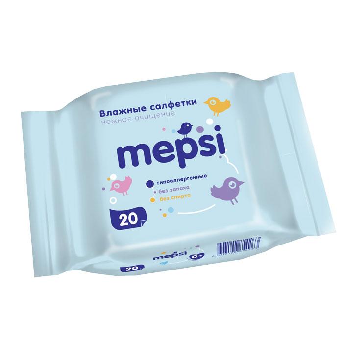 Влажные салфетки Mepsi (20 шт/уп)