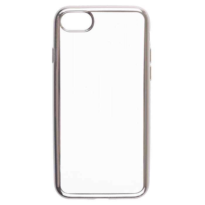 Чехол skinBOX silicone chrome border 4People для iPhone 7, черный