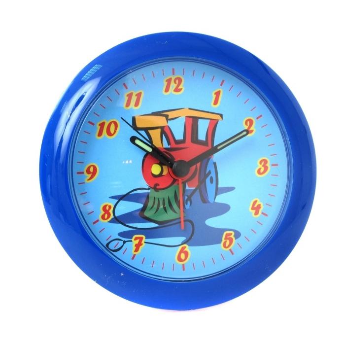 Часы — будильник HAMA Train синий ( H-106930 )