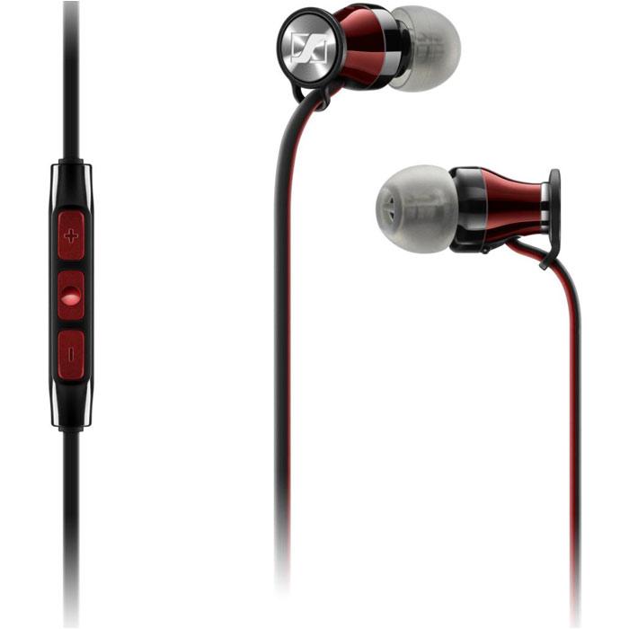 Гарнитура Sennheiser Momentum In-Ear M2 IEG черная с красным