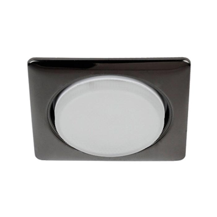 Светильник ЭРА Б0017635 KL71 BK GX53, 220V, 13W черный металл, квадрат
