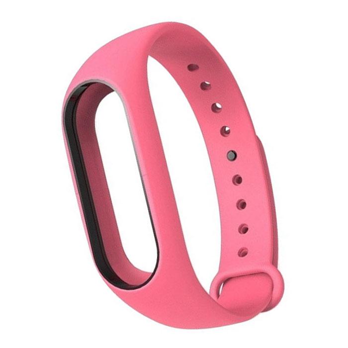 Ремешок для фитнес-браслета Xiaomi Mi Band 2 Silicon pink