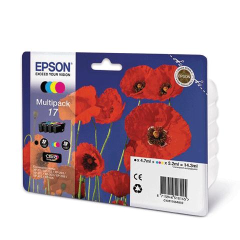 Набор картриджей EPSON C13T17064A10 для XP-33/103/203/207/303/306/406 4цвета