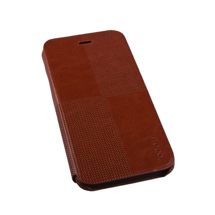 Чехол Hoco Crystal Fashion Folder для iPhone 6 / iPhone 6s, коричневый