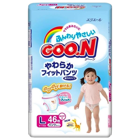 Подгузники Goon Трусики (9-14кг) 46шт для девочек