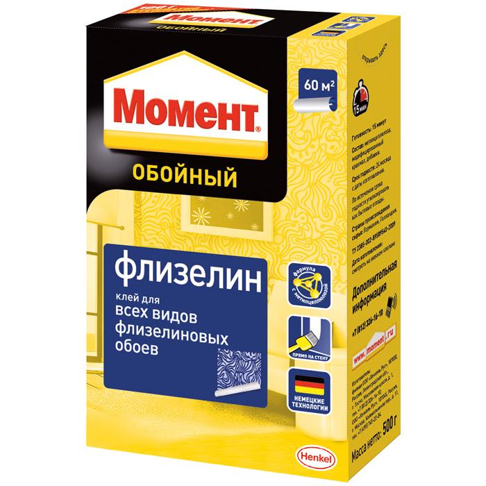 Клей обойный Момент Флизелин 500г 1234786