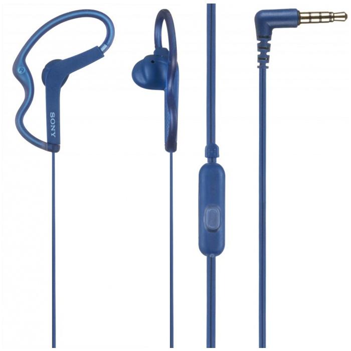 Гарнитура Sony MDR-AS210AP синяя