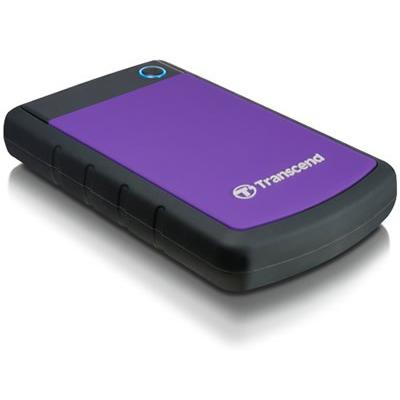 Внешний жесткий диск USB3.0 2.5″ 500Гб Transcend StoreJet 25H3P( TS500GSJ25H3P ) Черно-фиолетовый