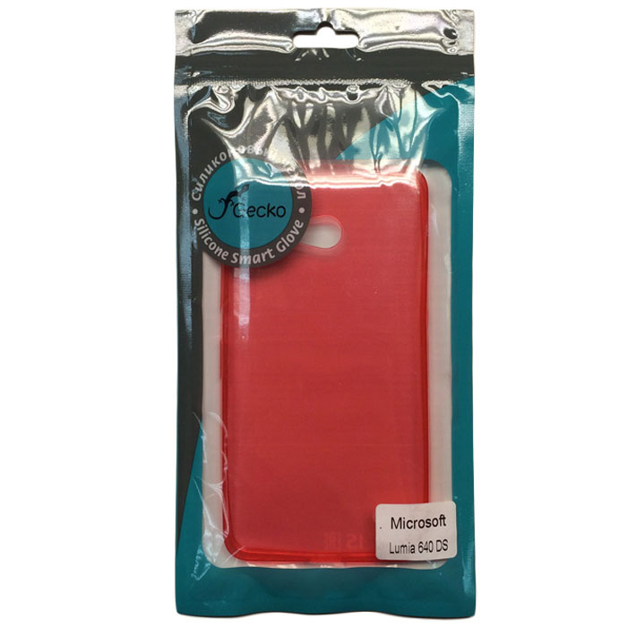 Чехол Gecko Силиконовая накладка для Microsoft Lumia 640 LTE DualLumia 640 Dual, непрозрачно-матовая, красная