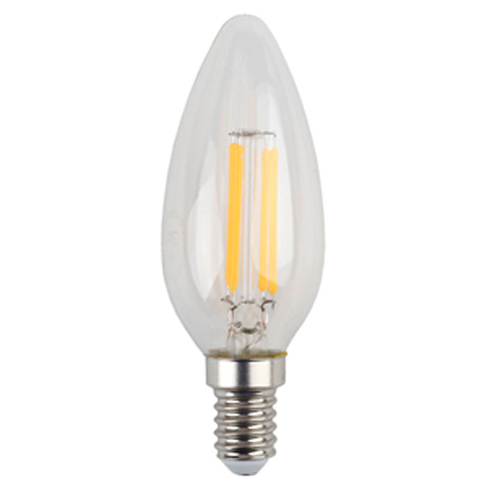 Светодиодная лампа ЭРА F-LED B35 E14 5W 220V желтый свет