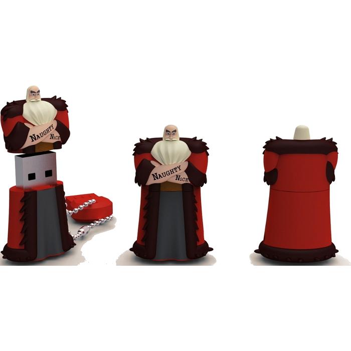 Флеш-диск Новогодняя серия USB 16GB  IconIK (RB-SANTA-16GB) Санта-Клаус