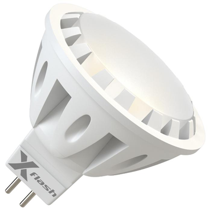 Светодиодная LED лампа X-flash MR16 GU5.3 6W 220V 43460 желтый свет, матовый