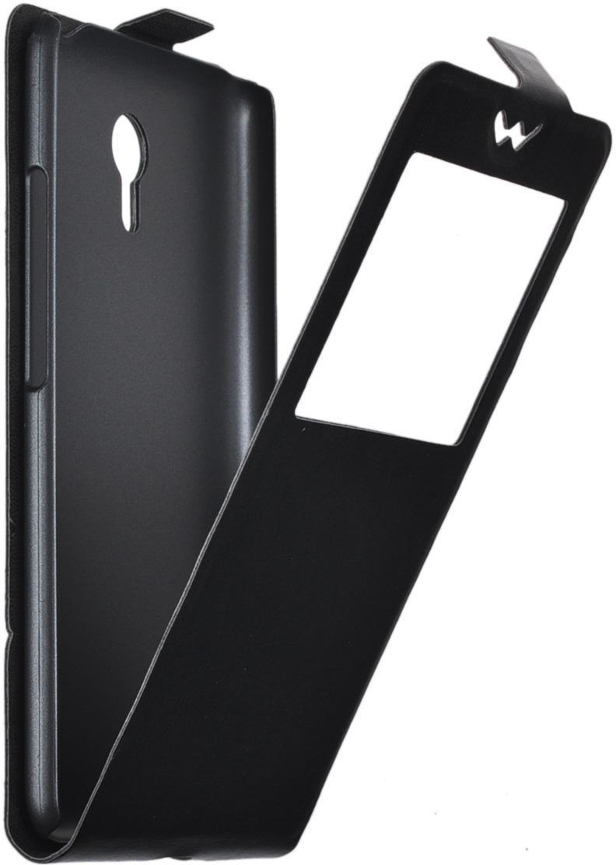 Чехол SkinBox Flip slim AW для Meizu M2 Note, черный